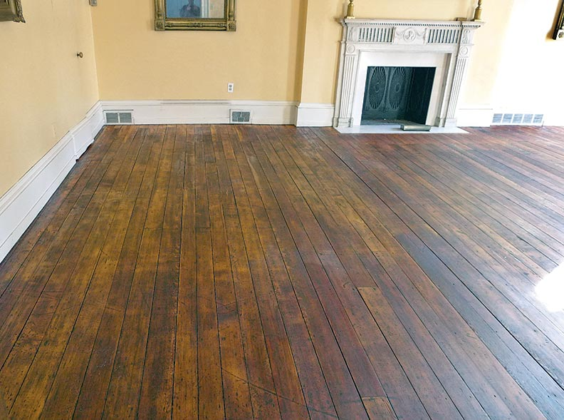 How to hand scrape wood floors old house online old for Hand scraped wood floors