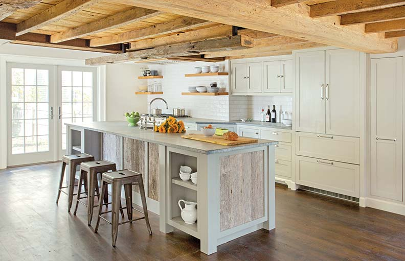 A modern farmhouse kitchen old house online old house for Modern barn kitchen