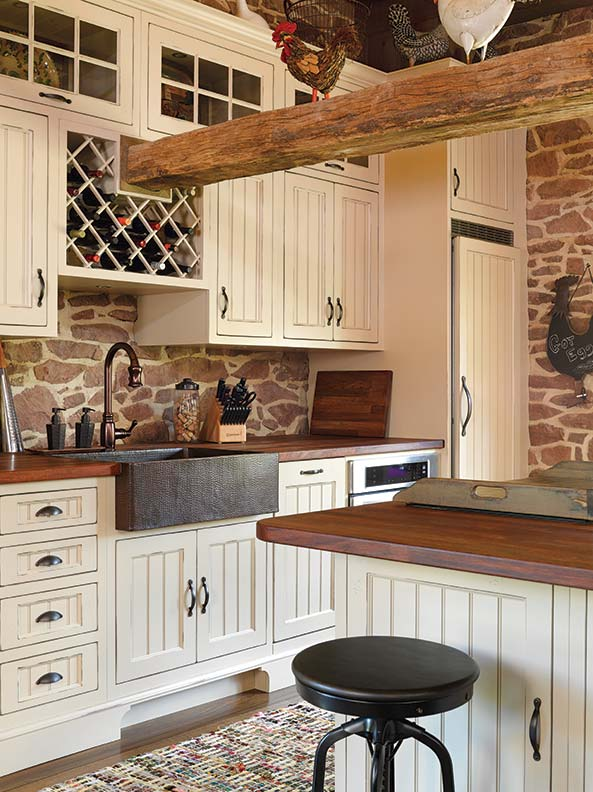 Barn Sinks For Kitchen : Converting a Stone Barn into a House - Old-House Online - Old-House ...