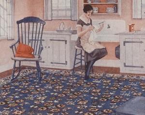 History Of Linoleum Rugs Old House Online