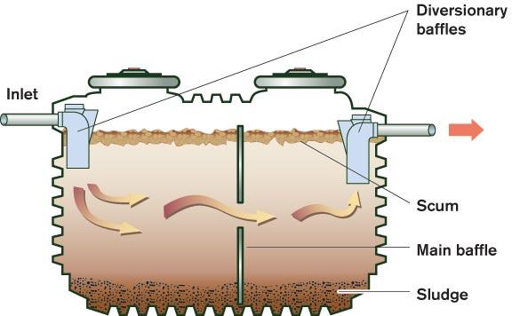 Single chamber septic tank design