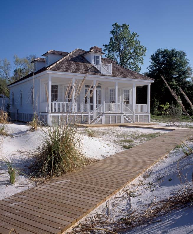 Beach House Exterior: A Simple Creole Beach Cottage