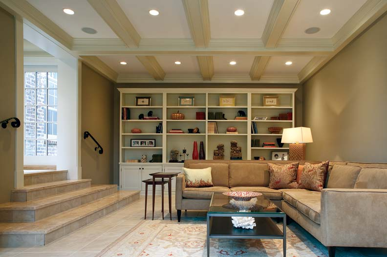 a garage turned family room old house online old house online. Black Bedroom Furniture Sets. Home Design Ideas