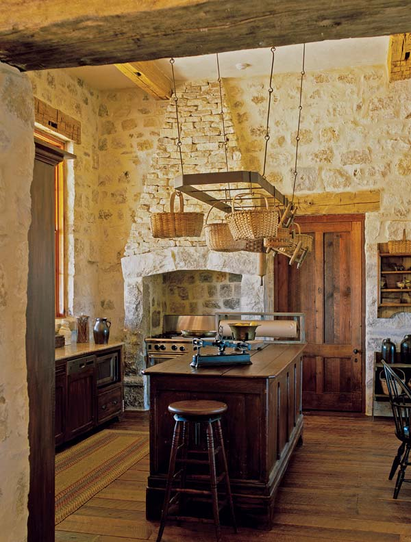Rustic Kitchen for a Texas Farmhouse - Old-House Online ... on Rustic Farmhouse Kitchen  id=19855