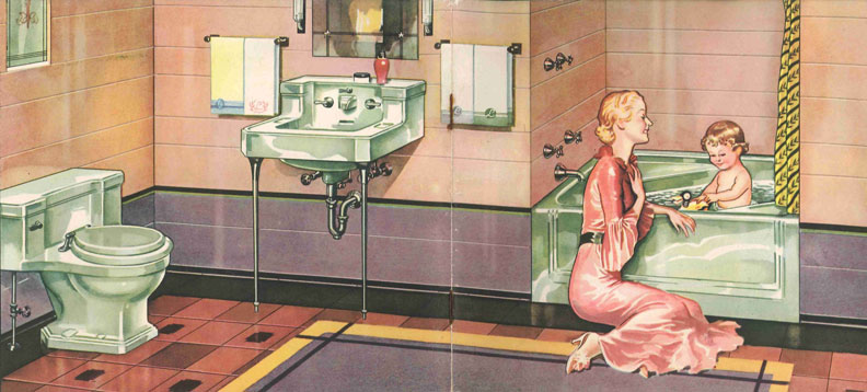 The Evolution Of Colored Bathroom Fixtures Old House