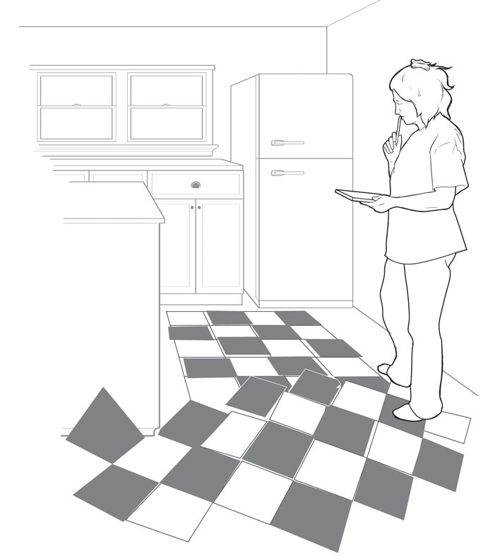 How To Lay A Checkerboard Linoleum Floor Old House